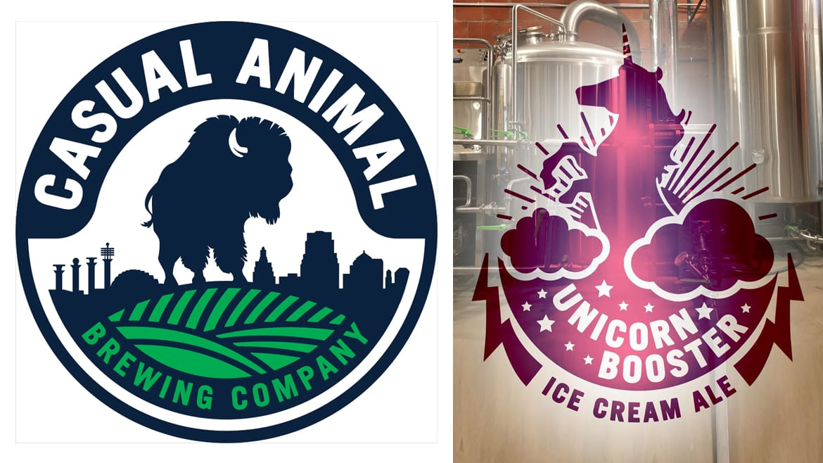 Casual Animal Brewing's theme of animal-named beers continues with its new release, Unicorn Booster