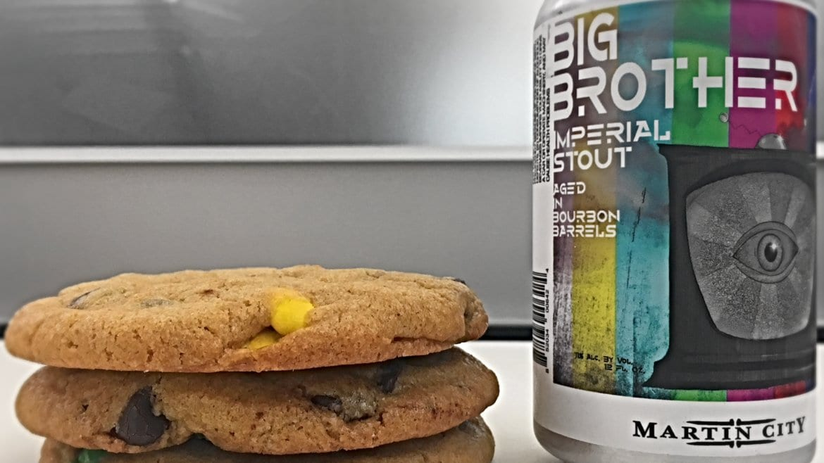 Martin City Brewing Company's Big Brother Imperial Stout finds a willing dance partner in Heirloom Bakery's Go Big Cookie.