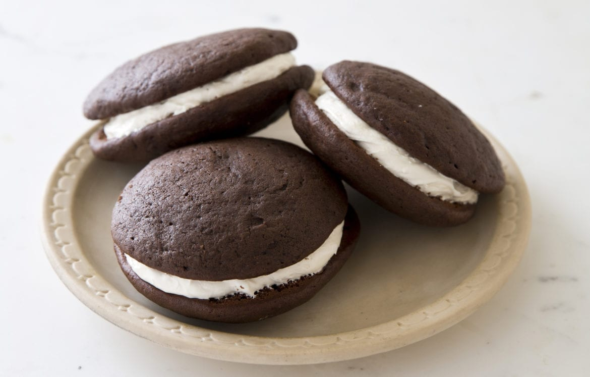 "This recipe for whoopie pies pies appears in the cookbook ""The Perfect Cookie."""