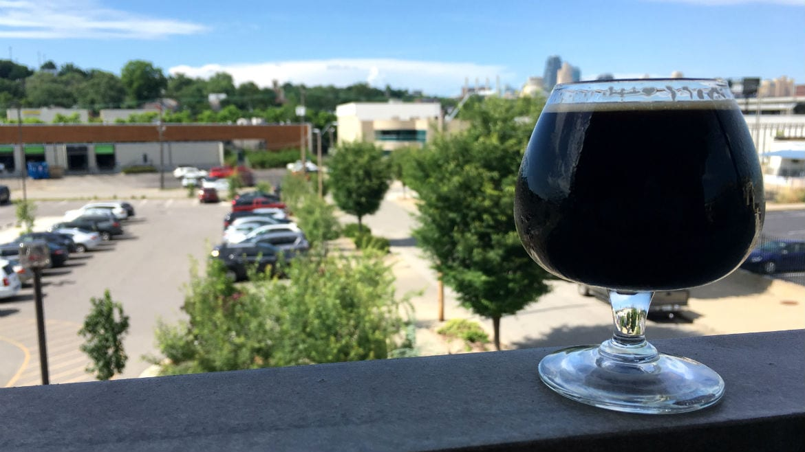 Boulevard Tours & Rec Center has a test whiskey barrel-aged stout with coffee
