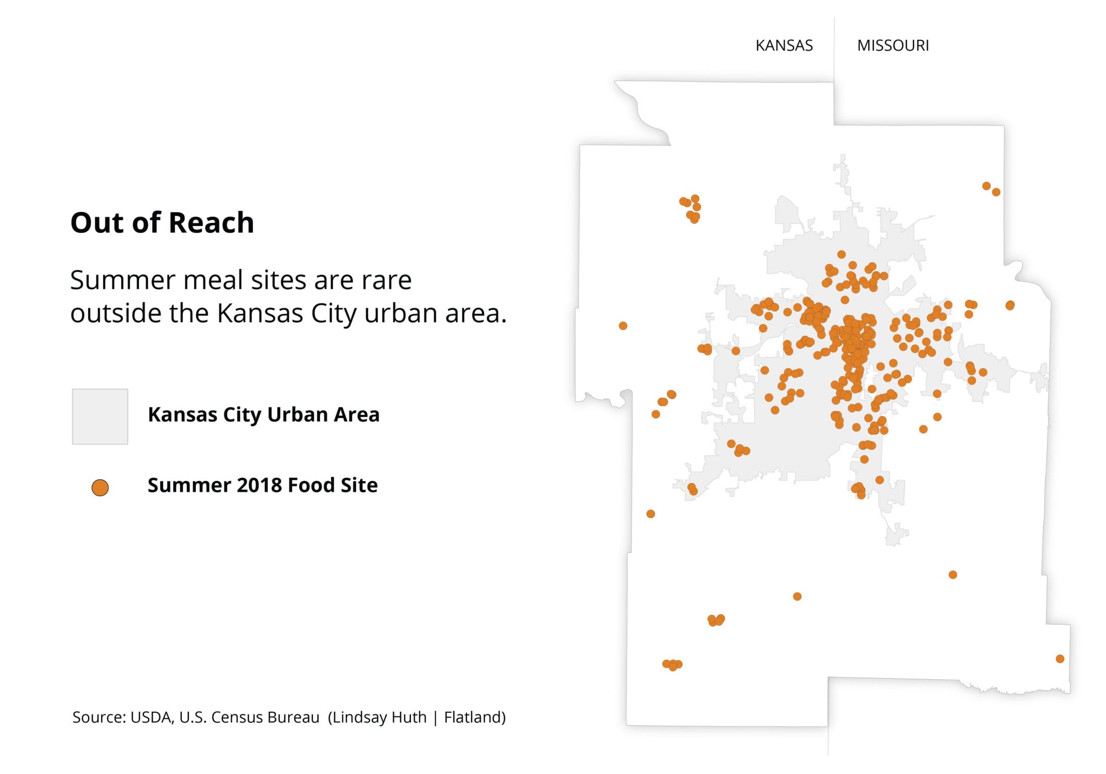 Map of rural and urban summer food sites