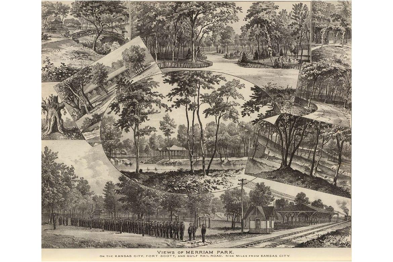 Views of Merriam Park in 1887