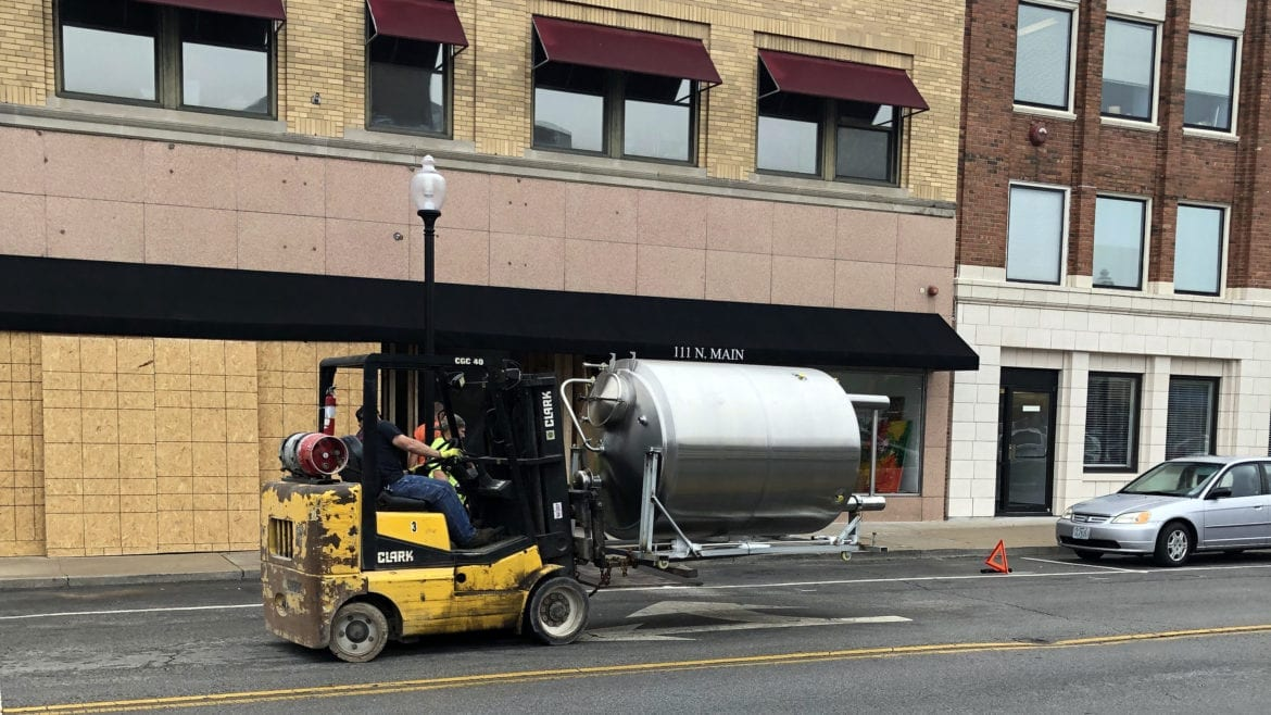 3 Trails Brewing is in the midst of building out its brewery
