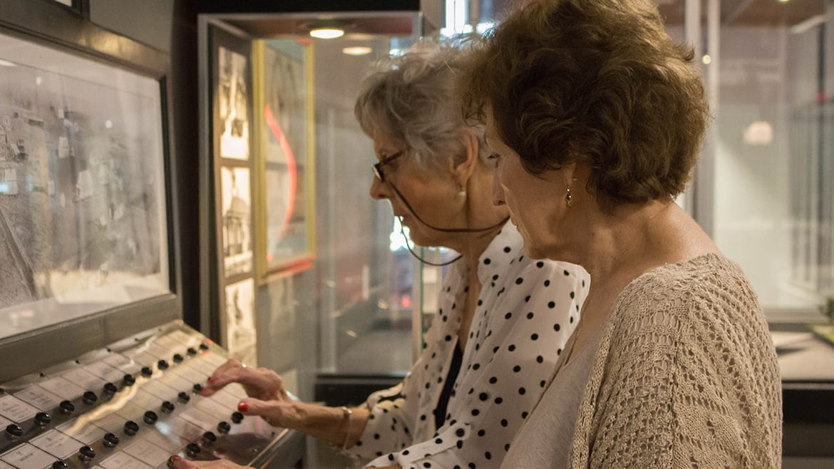 two women at johnson county arts and heritage museum