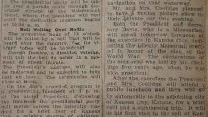 newspaper story from November 1926 mentioning Joseph Damico