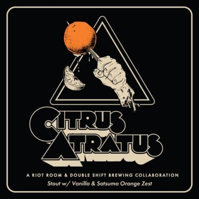 Citrus Atratus, is a new collaboration brew, from Double Shift Brewing Co. & The Riot Room