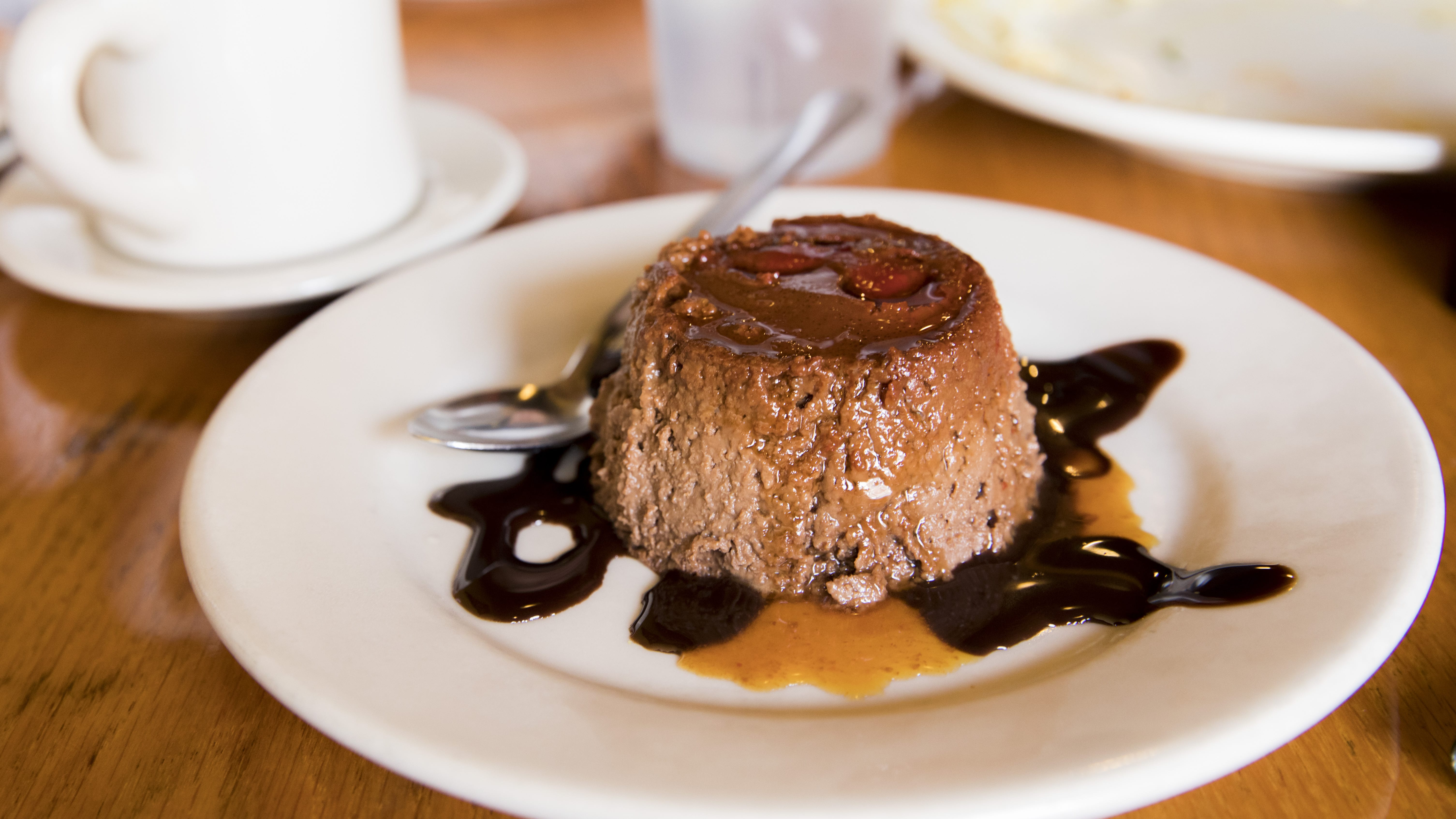 The intensely rich chocolate flan at Zen Zero