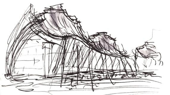 Napkin sketch Kauffman
